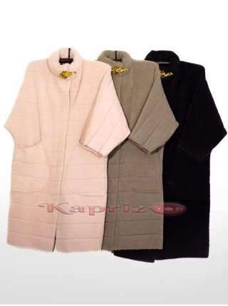Женское пальто из шерсти Альпака 9521
