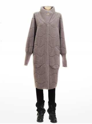 Женское пальто брошка Star из шерсти Альпака