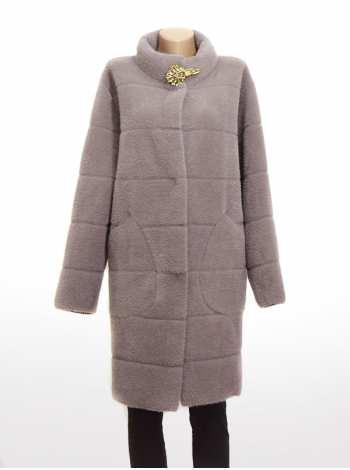 женское пальто с брошкой Latch