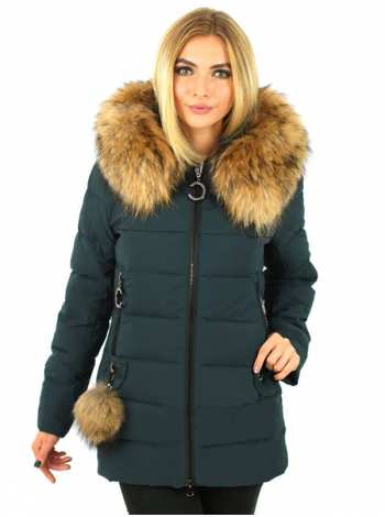 куртка женская с мехом енота