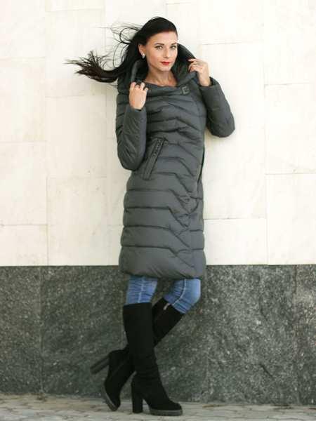 Пальто женское модное без меха Fodarlloy 9611