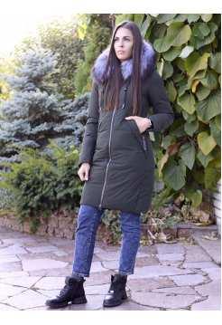 Женская длинная куртка с мехом Ecaerst 155
