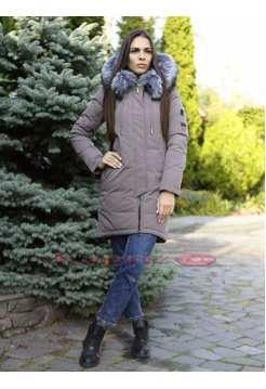 Женская длинная куртка с мехом Ecaerst 6091