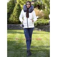 Женская короткая куртка с мехом Ecaerst 6095
