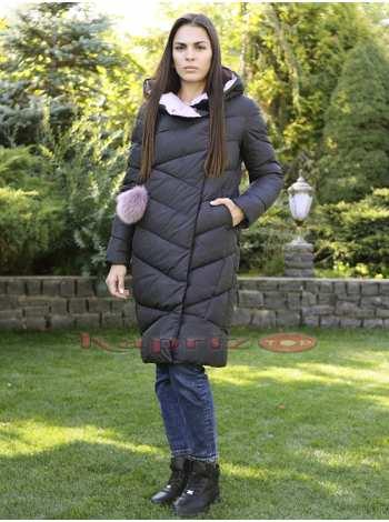 пальто женское с асимметричной отделкой