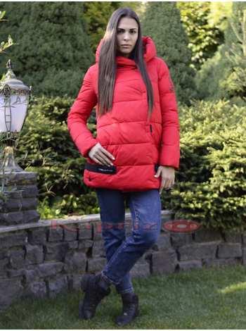 куртка женская длинная на био пухе