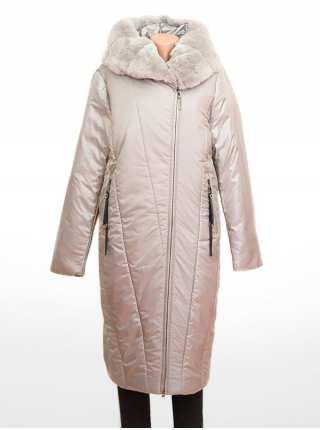 Пальто женское на верблюжьем утеплителе Delfy 2028 с мехом