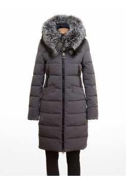 Куртка женская зимняя с натуральным мехом SNHY 9371